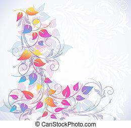 floral, colorido, plano de fondo