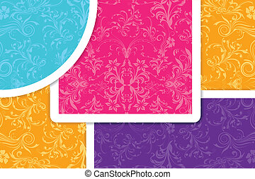 floral, coloridos, fundo