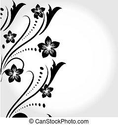 floral, conception abstraite, élément