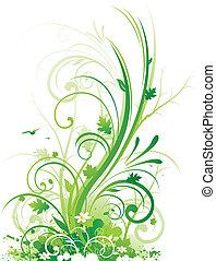 floral, conception abstraite, nature