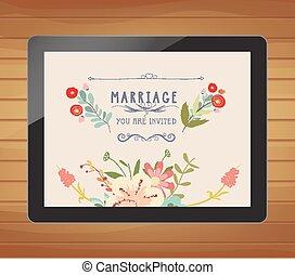 floral, convite casamento