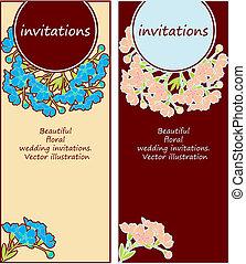 floral, convites casamento