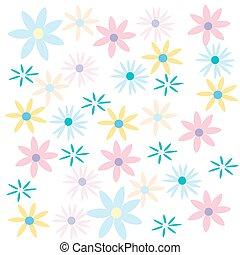 floral, cor-de-rosa, abstratos, fundo, natureza