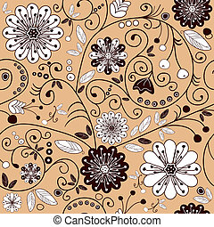 floral, cor-de-rosa, seamless, padrão