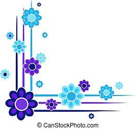 floral corner design