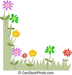 floral corners - floral page corner design. Just flip to add...