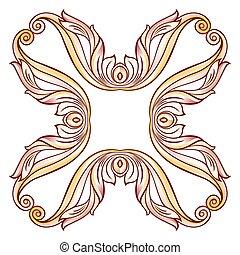 Floral cross element