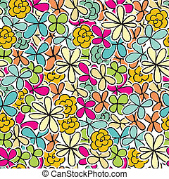 floral, cute, seamless, fundo
