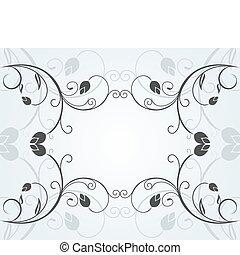 floral, décor, conception, fond, illustration