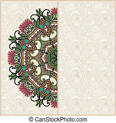 floral, décoratif, cercle, fond, gabarit