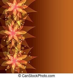 floral, décoratif, fleur, fond
