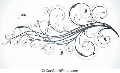 floral, décoratif, fond