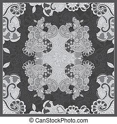 floral, décoratif, paisley, bandanna.