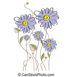 floral, délicat, fond