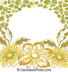 floral, dahlia, fond