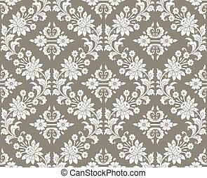 Floral damask seamless wallpaper