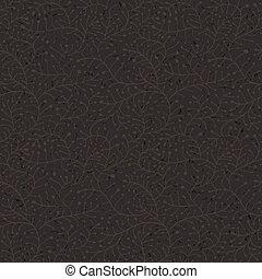 Floral dark seamless pattern. Vector