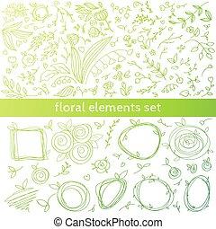 floral decor elements.