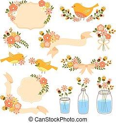 floral, decoraciones