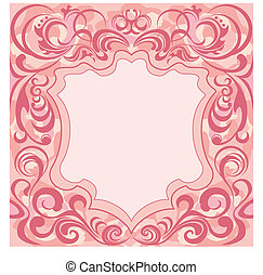floral decoratie, abstract, frame