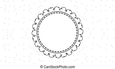 floral decoratie, frame, cirkel, etiket