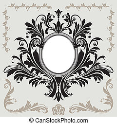 floral decoratie, frame