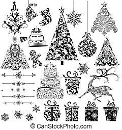 floral decoratie, kerstmis
