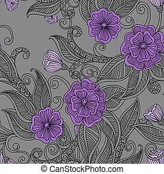 floral, decoratief, pattern., seamless