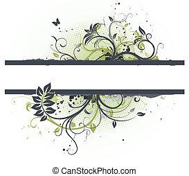 floral, decoratief, spandoek