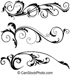 Floral decoration 03 -  popular scroll illustrations