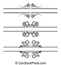 Floral decoration banner - Illustrated floral black and...