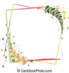 Floral decoration frame border isolated on white background