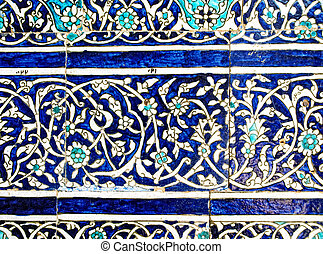 Floral decoration of the wall.