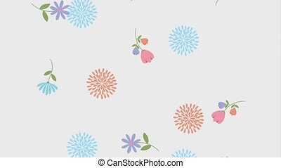 floral decoration ornament motion flowers animation hd
