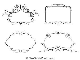 floral decorative frames - set