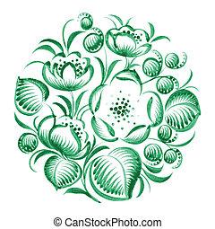 floral decorative ornament circle