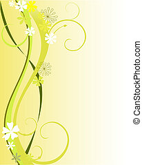 floral dekoration - vector illustration of a floral...