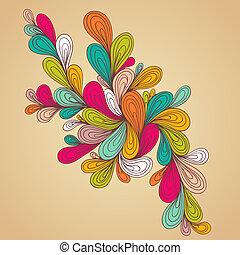floral design . abstract backgroun