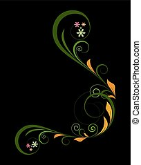 Floral Design Corner Frame