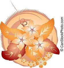 floral design element.