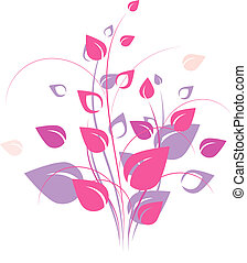 Floral design element over white. EPS 8, AI, JPEG