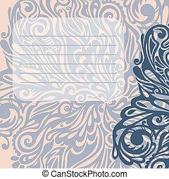 Floral design element vintage style