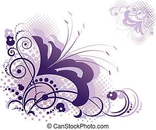 Floral design elements - Floral design element over white....