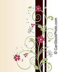 floral design - vector illustration of a floral background