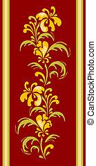 floral design for carpet