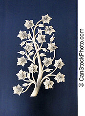 Floral Design on Wall Plaque