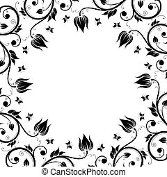 Floral Design Ornament Frame