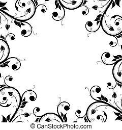Floral Design Ornament Frame