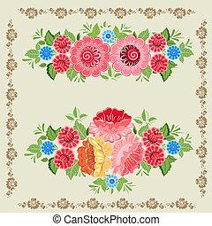 Floral design style Khokhloma