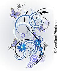floral design - vector illustration of colorful floral ...
